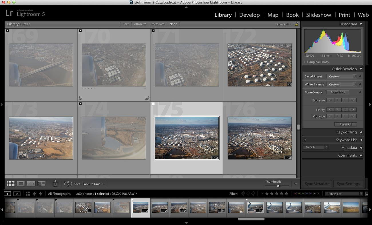 Lightroom 5 User Interface